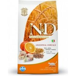 N&D Low Grain CAT Adult Codfish & Orange 1,5kg