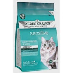 Arden Grange Cat Sensitive Ocean White Fish and Potato grain free 2kg