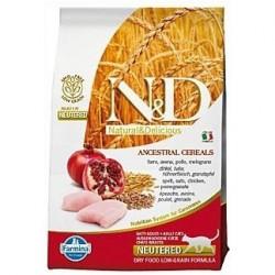 N&D Low Grain CAT Neutered Chicken & Pomegranate 10kg Doprava zdarma