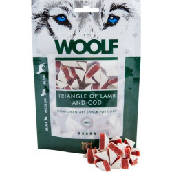 Pochoutka WOOLF Lamb and Cod Triangle 100g